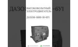 ВЫСОКОВОЛЬТНЫЙ ЭЛЕКТРОДВИГАТЕЛЬ ДАЗО16-1600-10-6У1